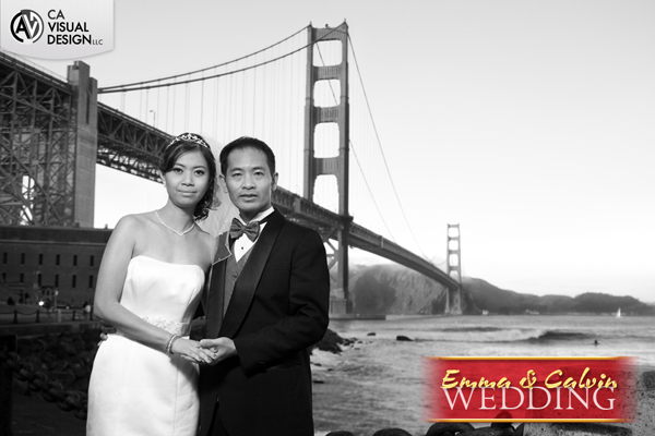 Emma and Calvin Wedding at the Golden Gate Bridge, San Francisco, CA