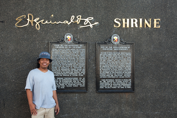 Yours truly, at the Aginaldo Shrine
