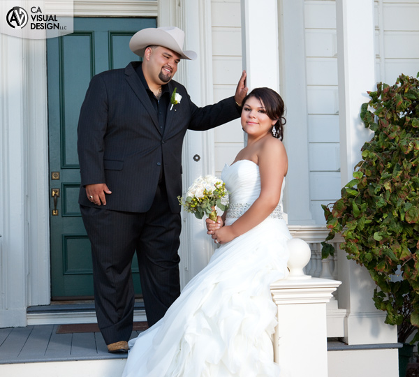 Wedding Portrait at the Rengstorff House in Mountain View, CA