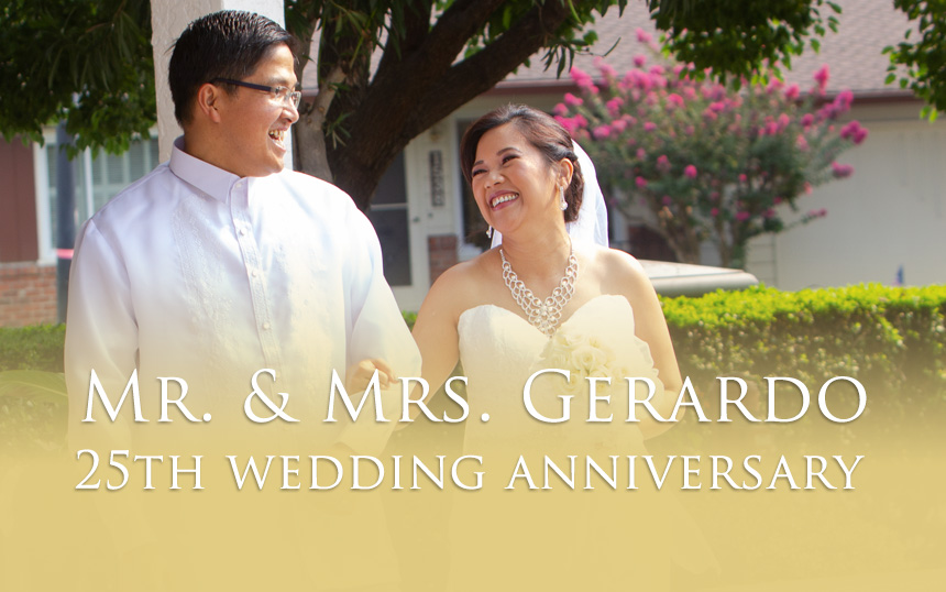 Gerardo Wedding Anniversary